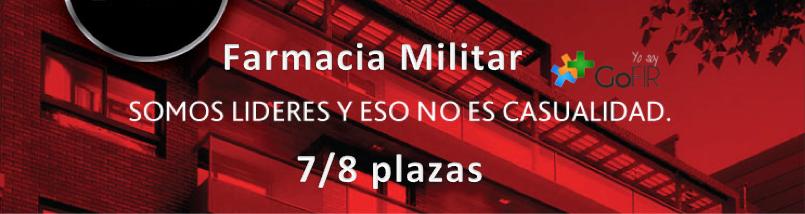 GoFIR Farmacia Militar: a la cabeza con 7/8 plazas