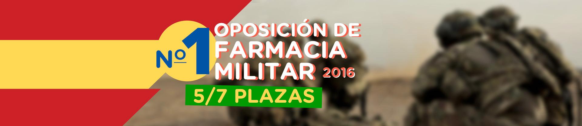De nuevo número 1 -Oposición Farmacéutico Militar-,  5/7 Plazas y número 1 en todas las pruebas por separado