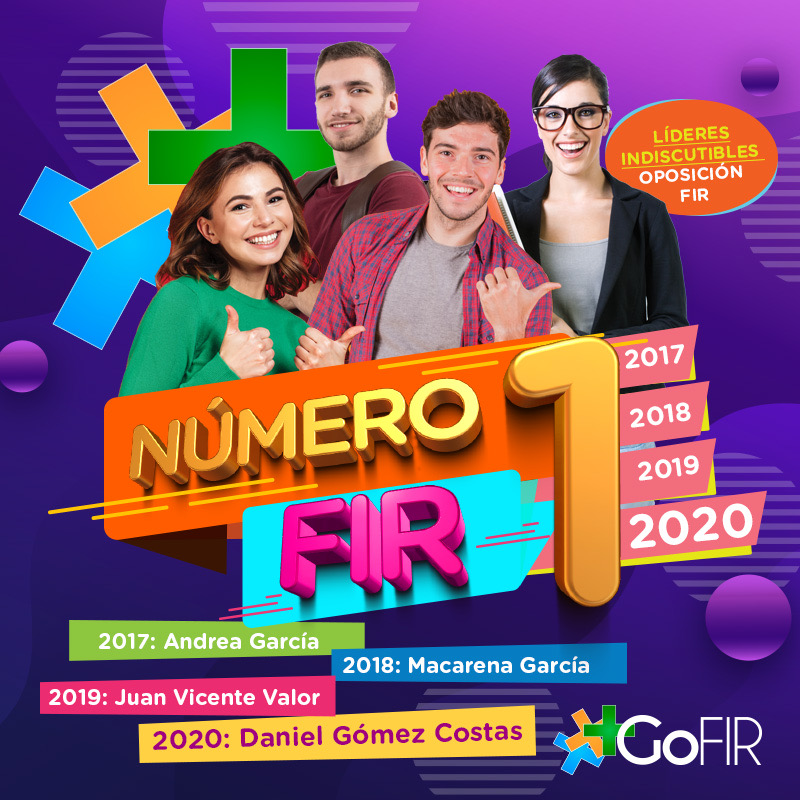 GoFIR, líderes en resultados FIR 2020. Nº1 por 4º año consecutivo y academia con mas plazas FIR